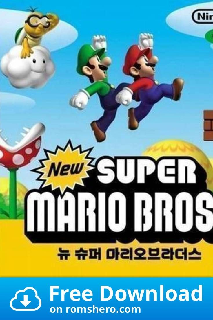 Download New Super Mario Bros Nintendo Ds Nds Rom Mario Bros Super Mario Bros Nintendo Ds