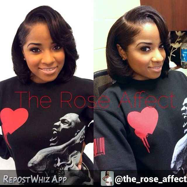 I get inspired to try new looks when I scroll through Instagram.  I love this bob @the_rose_affect  did on @Toyawright— it's so classy!  I want to try a sew in with this look. Tag someone who would look cute with this style!  #VoiceOfHair ✂️========================== Go to VoiceOfHair.com ========================= Find hairstyles and hair tips! =========================