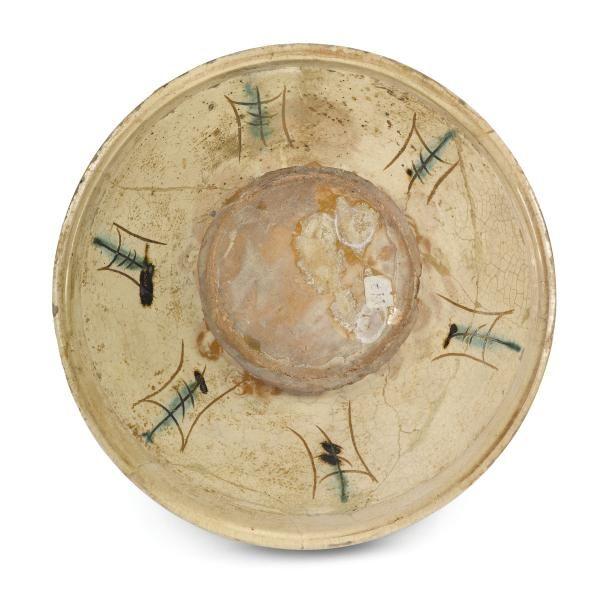 A bowl, Ferrara, late 15th century - Ceramica ingobbiata, graffita, dipinta e [...], An Important Selection of Majolica works from private collections (Genova) à Cambi Casa d'Aste