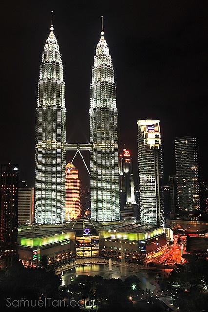 Night in Kuala Lumpur by Samuel_Tan, via Flickr