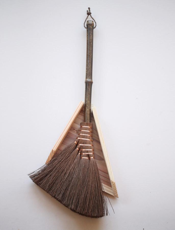 Shuro Hoki and Bamboo Dustpan and Brush
