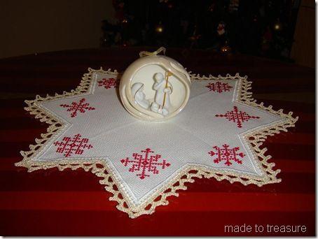 Free snowflakes cross stitch pattern