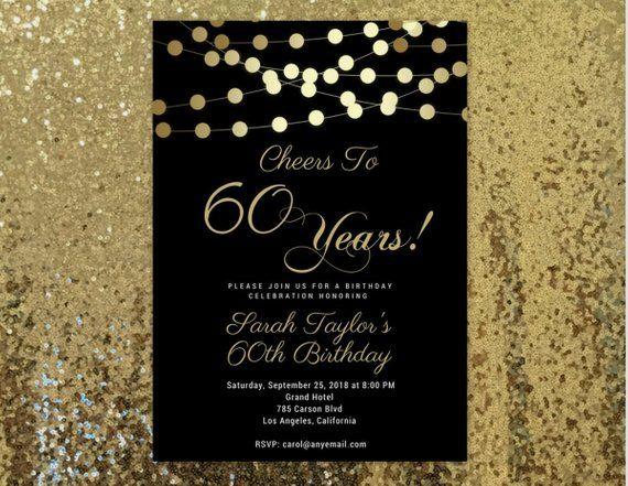 Invitation 60th Birthday