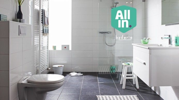 Tegels Badkamer Antraciet ~ ALL in for ?10,000  Small bathroom makeover ideas  Pinterest