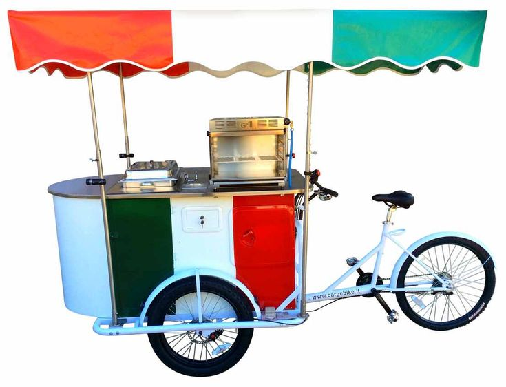 HOT DOG BIKE, Carretto Hot Dog su Bicicletta a 3 Ruote Triciclo Cargo Bike,street food bike,
