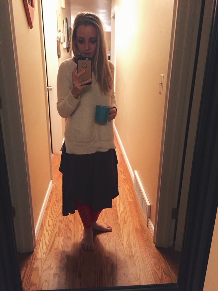DRESSEMBER DAY 25: gray dress - free people    sweater - gap    jammie bottoms - aerie