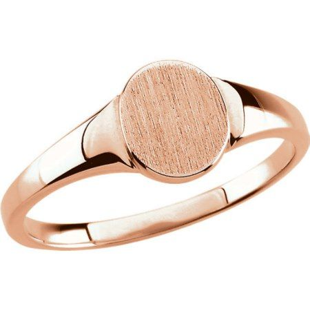 Custom Engraved Rose Gold Oval Signet Ring  - click/tap to personalize and buy