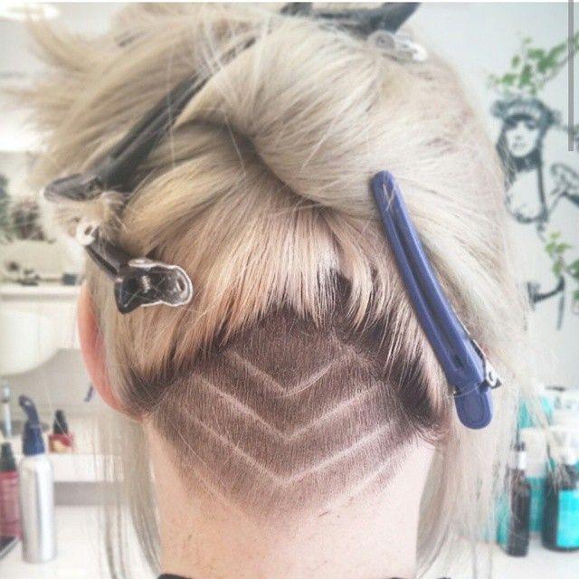 Undercut! #hairart #hairdesign #barberskills #barberlife #love that #undercut #hairdesign #headshave #shavedback #shavedhair #hairtattoo #tattoo #tattoohair #shavedpattern #shavednape #napeundercut #napeshave #longhair #blondehair #ponytail #napelove #undercutdesign #customundercut Thanks @vina_ha!