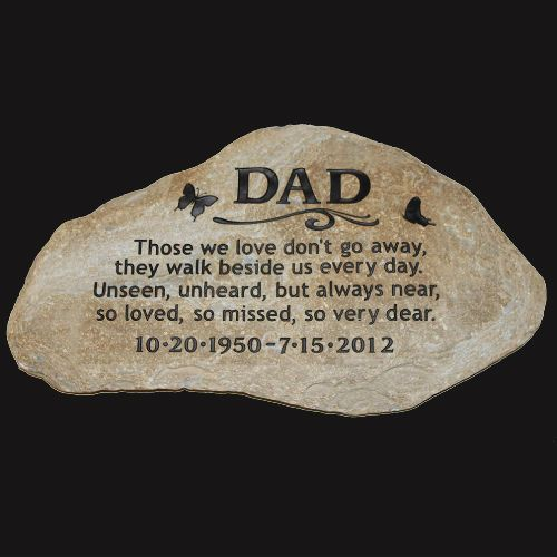 A Custom Engraved Garden Memorial Stone - LARGE Personalized
