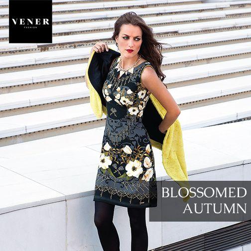 Φέραμε τα ανοιξιάτικα άνθη στη φθινοπωρινή καθημερινότητά σας!  www.vener.gr #venerfashion #flowerdress #autumndress #womenfashion