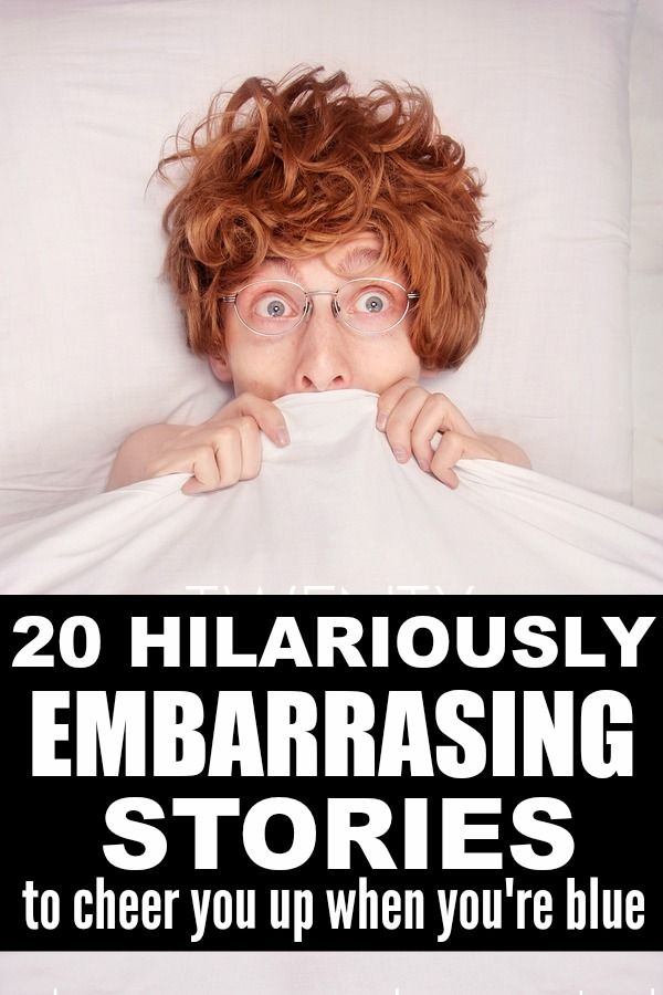 Whether you've just lost someone close to you, have the weight of the world on your shoulders with your problems, or are just having a crappy day, this collection of 20 funny and short embarrassing moments is just what you need to cheer yourself up.