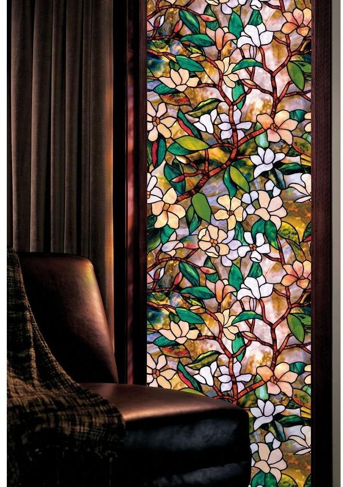 Decorative Window Art Decor Film Privacy Stained Etched Glass Bathroom Cover Stained Glass Window Film Faux Stained Glass Decorative Window Film