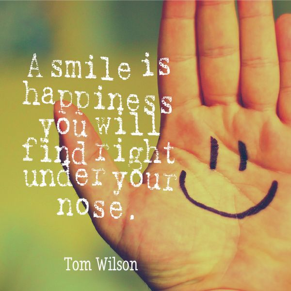 "Smile Quote #21 ""A smile is happiness you will find right ..."