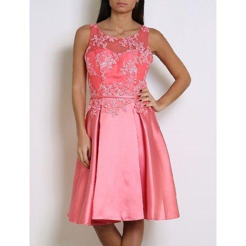 Venta de vestidos de fiesta color coral
