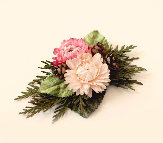 Hey, I found this really awesome Etsy listing at https://www.etsy.com/listing/476518949/woodland-bridal-clip-strawflower
