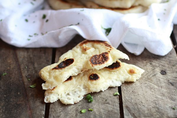 Homemade Naan - Good stuff, but make it thinner than the recipe calls for, otherwise it's a pita. Greek yogurt gives it a nice little tang, but not too much