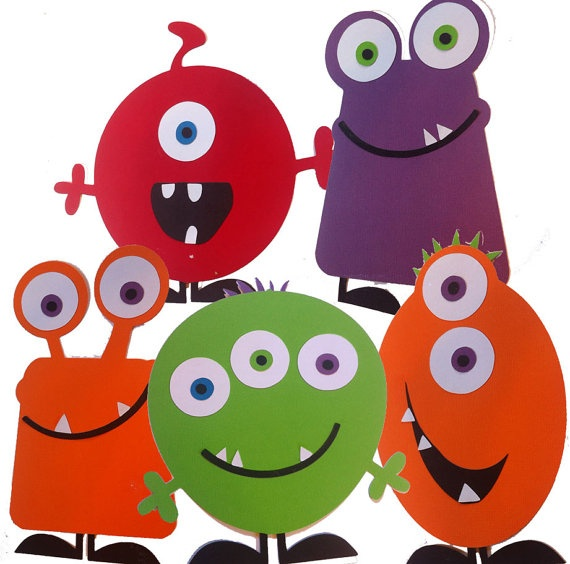cute monsters!!  Halloween Bucket ideas!