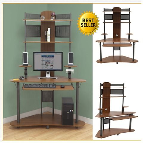 17 best ideas about computer desk with hutch on pinterest desk with hutch white desk with - Staples corner storage ...