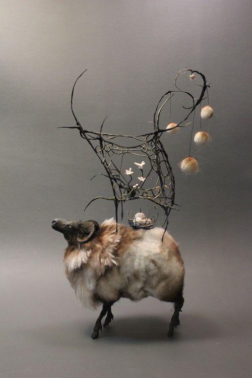 Best The Art Of Ellen Jewett Images On Pinterest Animal - Surreal animal plant sculptures ellen jewett