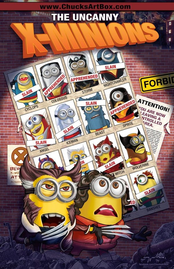 X-MINIONS: DAYS OF FUTURE PAST Mashup Fan Art Series — GeekTyrant