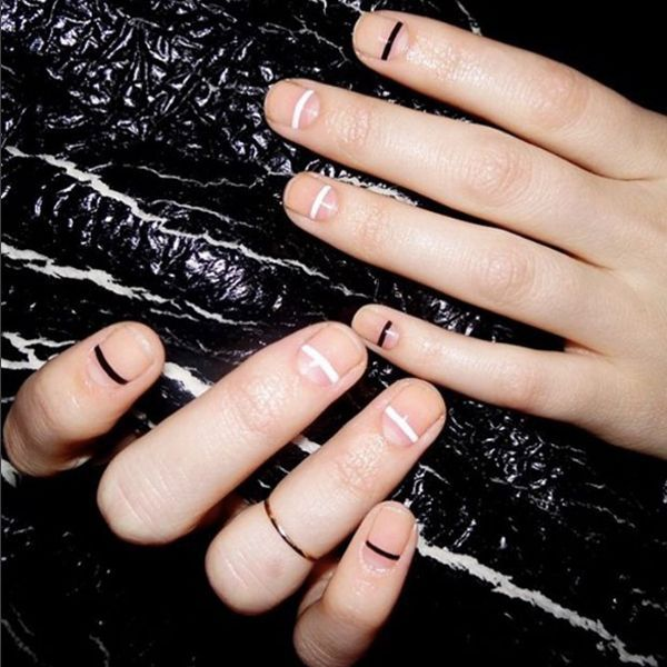 """This is one of my all-time favorite designs — and it is one of the easiest nail looks to achieve. The key is having short, square-ish nails with a very clean base,"" says Torello."