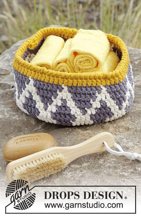 Beautiful Pattern Crochet Basket: FREE pattern