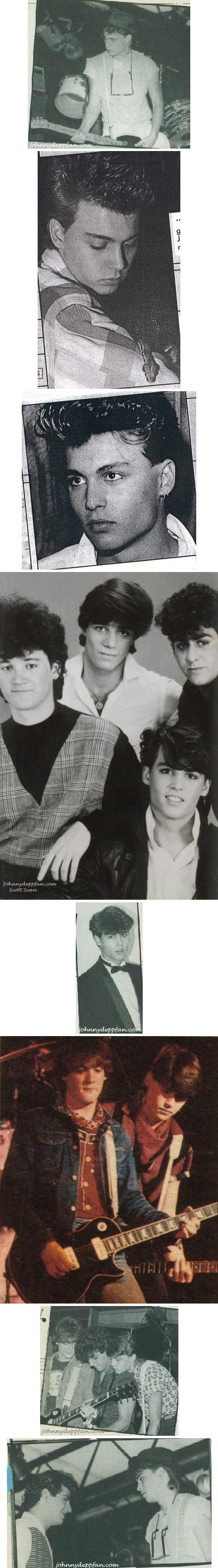 Johnny Depp and The Kids, that's a band, but they are just kids in some of the pics are of The Kids as kids. :)