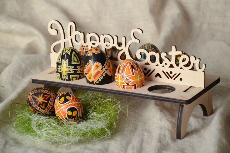 Plywood Blank Easter Egg Holder For Painting