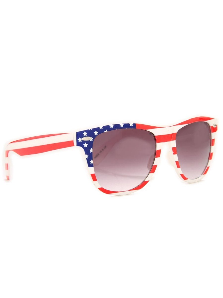 American Flag Wayfarer Sunglasses - specially pinned for you @Melissa Squires Squires