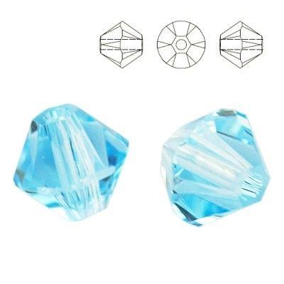 5328 Bicone 6mm Aquamarine 10 pieces  Dimensions: 6,0mm Colour: Aquamarine 1 package = 10 pieces