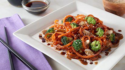 Asian Carrot Spirals Stir Fry