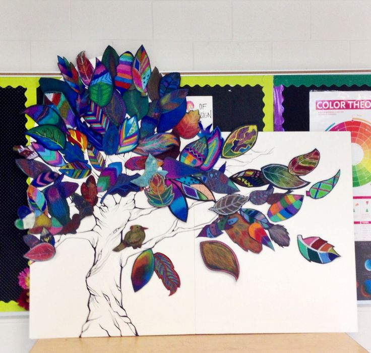 Collaborative fall art from Art club this week. Each student made a leaf...ELT