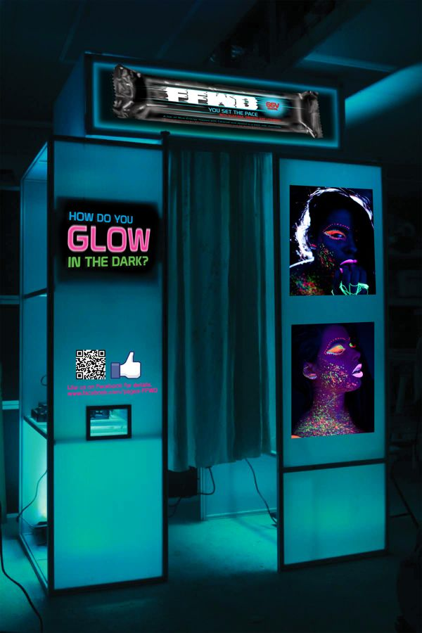 glow-in-the-dark photo booth