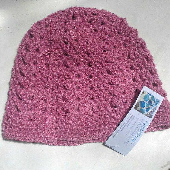 Chunky Shell Crochet Ladies Soft Beanie by ApplegumHandmade