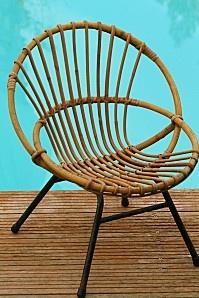 Belle chaise osier pour enfant Années 50