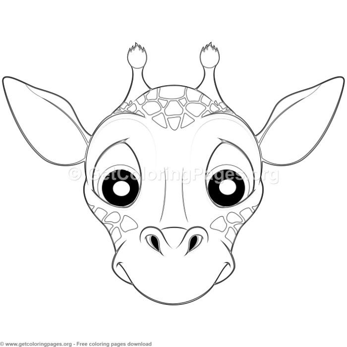 Giraffe Animal Face Mask Coloring Pages Free Instant Download