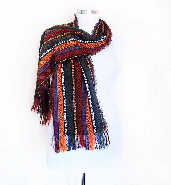 Multicolored Rainbow Scarf or Shawl TURKISH by aynurdereli on Etsy, $32.00 #scarf #scarves