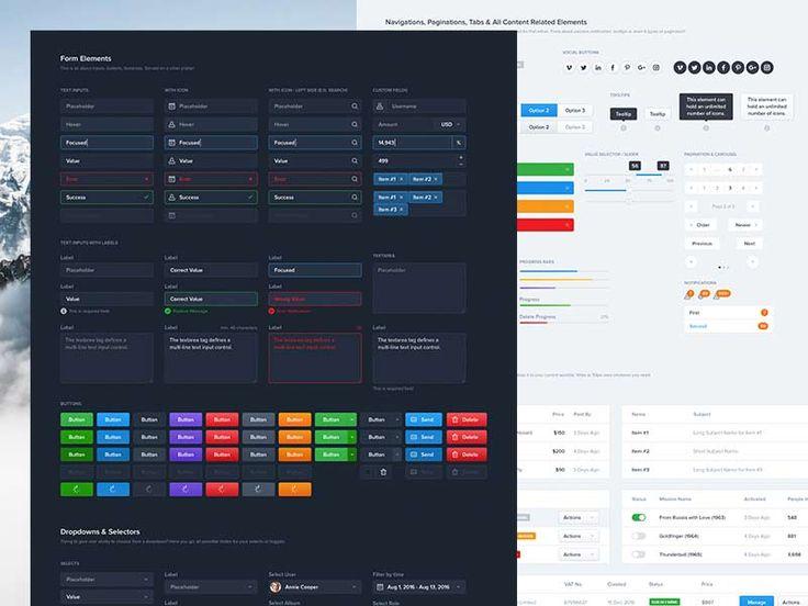 Elements - Sketch & Photoshop UI Kit