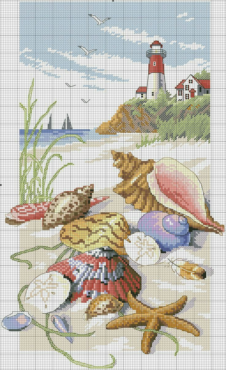 DIY - Beach Themed Cross-Stitch