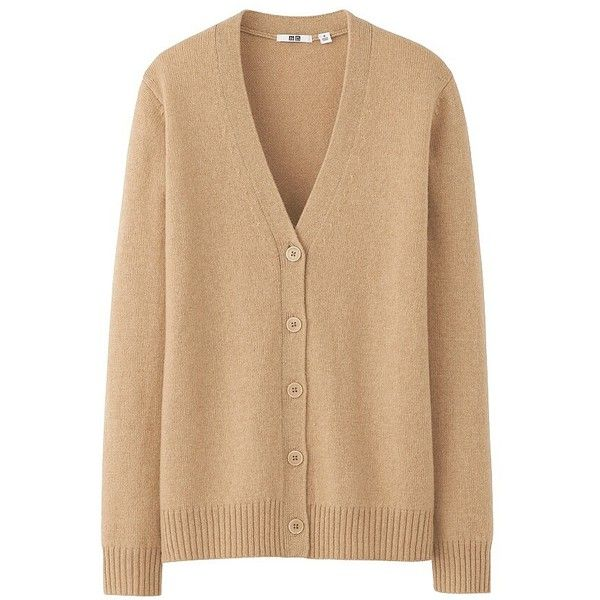 UNIQLO Women Alpaca Blend V Neck Cardigan ($13) ❤ liked on Polyvore featuring tops, cardigans, sweaters, jackets, ribbed cardigan, v-neck tops, ribbed top, v neck cardigan and uniqlo cardigan