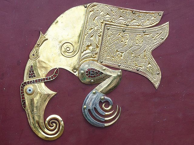 Raven from the Sutton Hoo shield | Flickr - Photo Sharing!