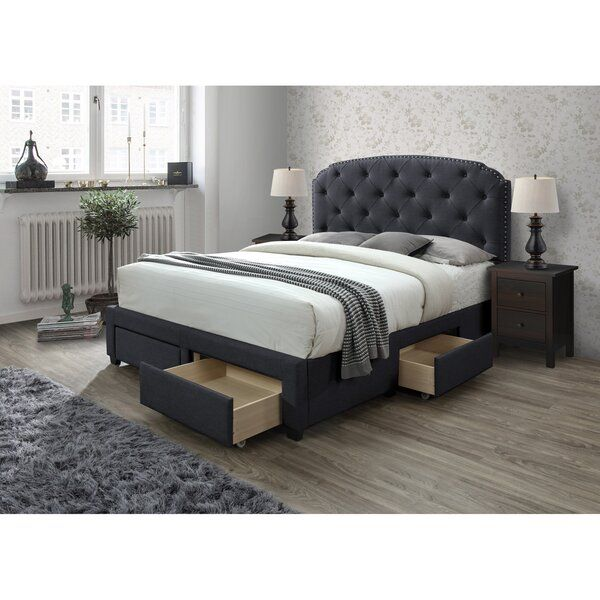 Bed Upholstered Panel, Queen Bed Base With Drawers