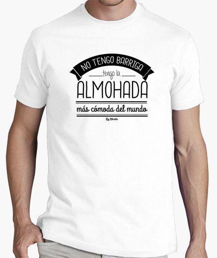 No tengo barriga, ¡tengo la almohada más cómoda del mundo!  #camiseta #regalo #humor