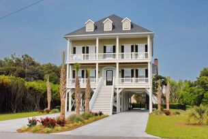 Lagerhead - New 6 bedroom 5 1/2 bath vacation home in the Ocean Drive section of North Myrtle Beach. Very close walking distance to the beach! Has a pool!