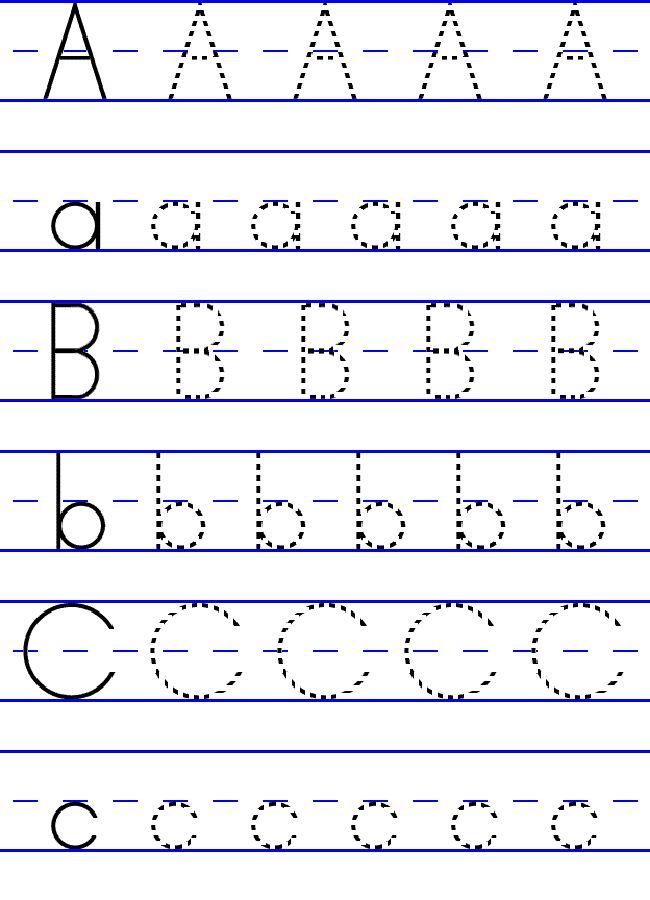 Free ABC Worksheets for Pre-K | Loving Printable | Abc ...