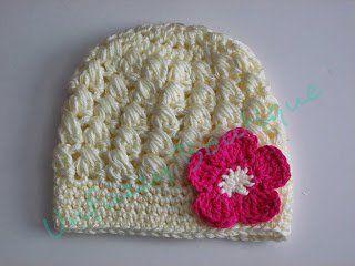 Candy Puffs Beanie – 9-Adult Size - Free crochet pattern