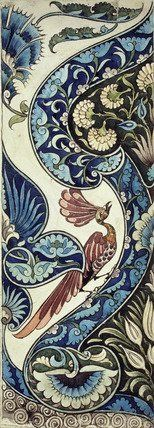 Tile Design by William de Morgan (1839–1917), 19th century