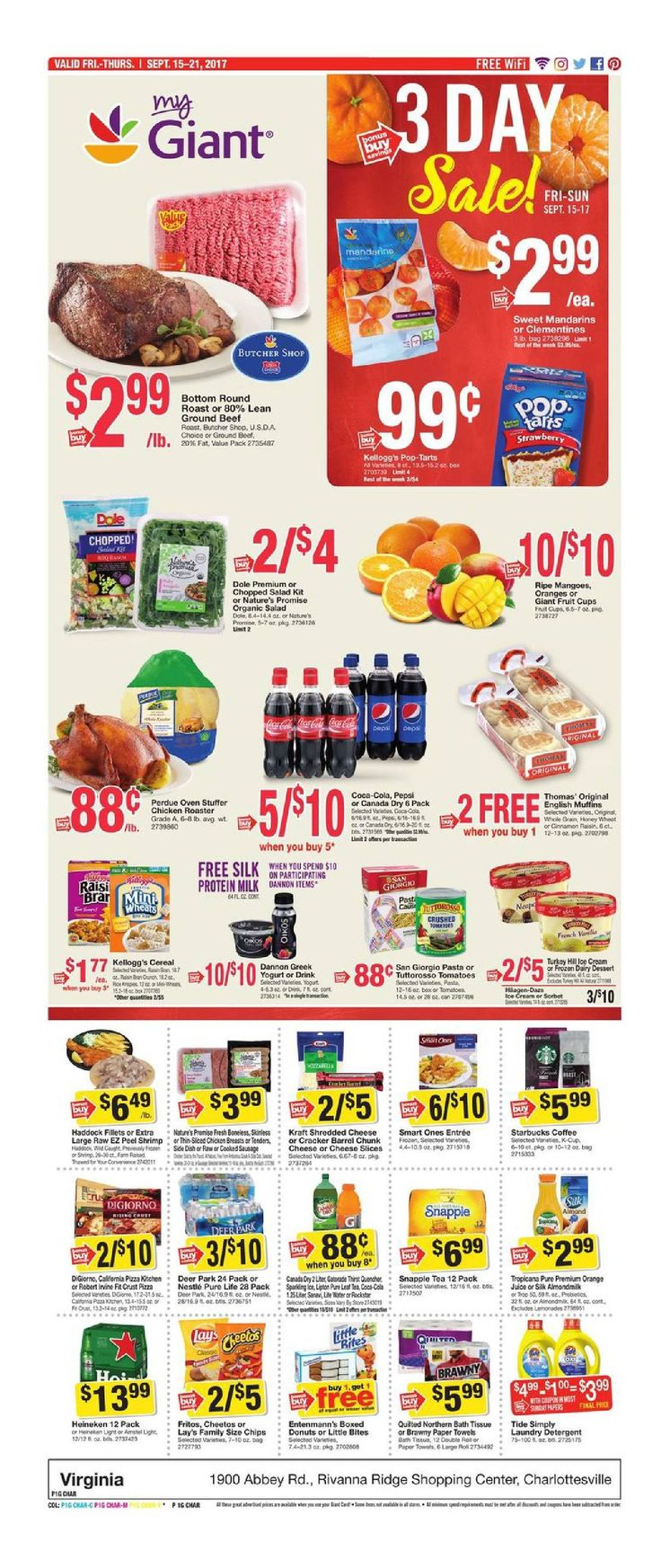 Giant Food Weekly Ad September 15 - 21, 2017 - http://www.olcatalog.com/grocery/giant-food-weekly-ad.html
