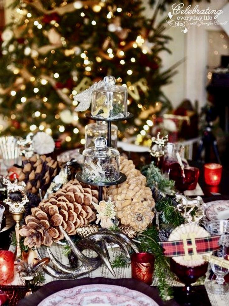 1037 best christmas table decorations images on pinterest Best table decoration ideas