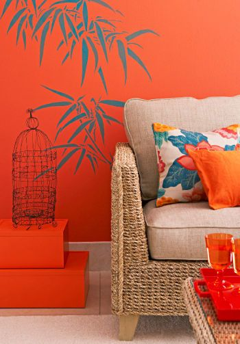 Tropical decorating.              I wish I was comfortable with experimenting with wall decals.